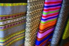 Цвет ткани сплетенный от Лаоса Стоковое Изображение
