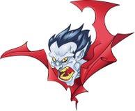 Цвет хеллоуина бюста вампира Стоковая Фотография RF