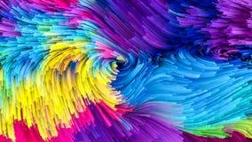 Цвет цифров жидкостный Стоковое Изображение RF