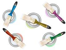 цвет чонсервных банк щетинок Стоковая Фотография