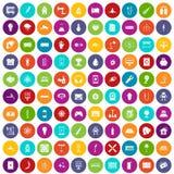 100 цвет энергии установленный значками бесплатная иллюстрация