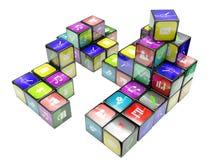 цвет 3d cubes иллюстрация Стоковые Фото