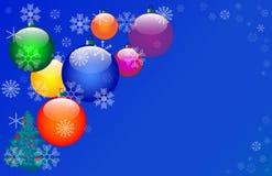 цвет 7 рождества шариков Стоковые Изображения