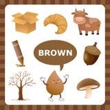 Цвет Brown иллюстрация вектора