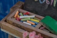Цвет crayon мела Стоковое Изображение RF