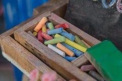 Цвет crayon мела Стоковое фото RF