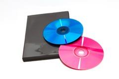 Цвет DVD и КОМПАКТНЫЙ ДИСК Стоковое фото RF