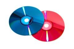 Цвет DVD и КОМПАКТНЫЙ ДИСК Стоковое Фото
