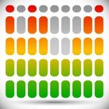 Цвет EQ спектра - бары прямоугольника шаблона выравнивателя бесплатная иллюстрация