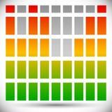 Цвет EQ спектра - бары прямоугольника шаблона выравнивателя Стоковая Фотография