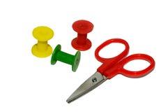 цвет scissors катышка стоковые изображения rf