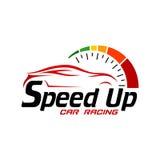 Цвет TemplateWith логотипа автомобиля плоский Стоковые Изображения