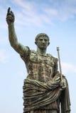 Цезарь Augustus, старая статуя в Риме, Италии Стоковые Изображения RF