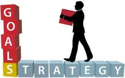 цели бизнеса строений блоков укомплектовывают личным составом стратегию Стоковые Фотографии RF