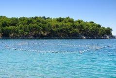 Цели и пляж водного поло морем Стоковая Фотография RF
