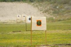 цели ряда пушки Стоковое Фото