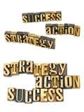 Цели успеха действия стратегии стоковое изображение rf