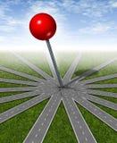 цели устанавливая стратегию Стоковое фото RF