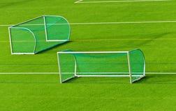 цели футбола поля Стоковое Изображение