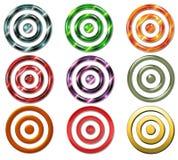 цели bullseye иллюстрация штока