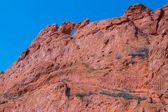 Целовать горную породу верблюдов, сад богов, Колорадо-Спрингс, Колорадо, США стоковые фото