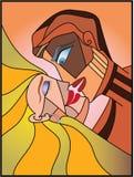 целовать женщину человека Стоковые Фотографии RF