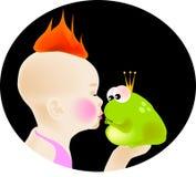 целовать лягушки Стоковые Изображения