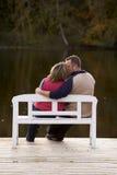 целовать пар стенда Стоковая Фотография