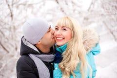 целовать пар счастливый Стоковое Изображение