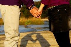 целовать пляжа Стоковая Фотография RF