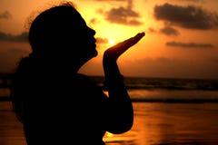 целовать солнце стоковые изображения