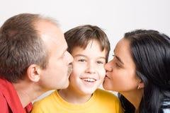 целовать сынка Стоковое фото RF