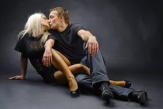 целовать Стоковое Изображение RF