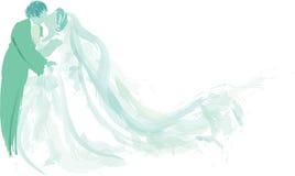целовать groom невесты Стоковое Изображение RF
