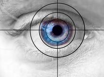 цель глаза стоковое изображение rf