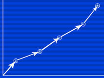 цель диаграммы иллюстрация вектора