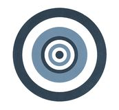 Цель для дротиков изолированных на белизне стоковое фото