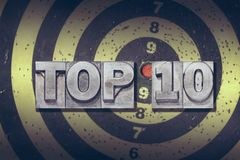 Цель 10 лучших Стоковое Изображение RF