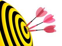 Цель. Принципиальная схема успеха. Стоковая Фотография