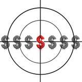 цель снайпера знака доллара Стоковая Фотография RF