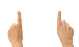 цель футбола перстов Стоковая Фотография RF