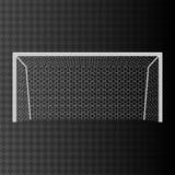 Цель футбола с сетью на прозрачной предпосылке Стоковые Фотографии RF