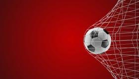 Цель 3d-illustration футбола футбольного мяча бесплатная иллюстрация