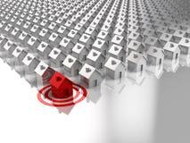 цель xl размера дома принципиальной схемы 3d Стоковое Изображение RF
