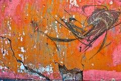 цементируйте старую стену Стоковые Изображения RF