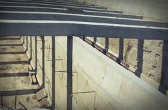 цемент с стальными поляками для конструкции Стоковые Фотографии RF