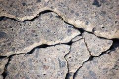 цемент треснул Стоковые Фото