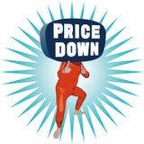 Цена вниз укомплектовывает личным составом Стоковое Изображение RF