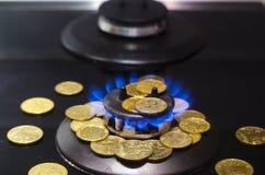 Цена газа, кризиса концепции стоковая фотография rf