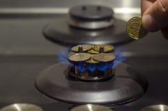 Цена газа, кризиса концепции стоковое фото rf